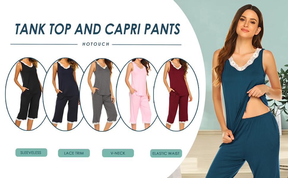 Tank Top and Capri Pants Pajama Set Sleepwear