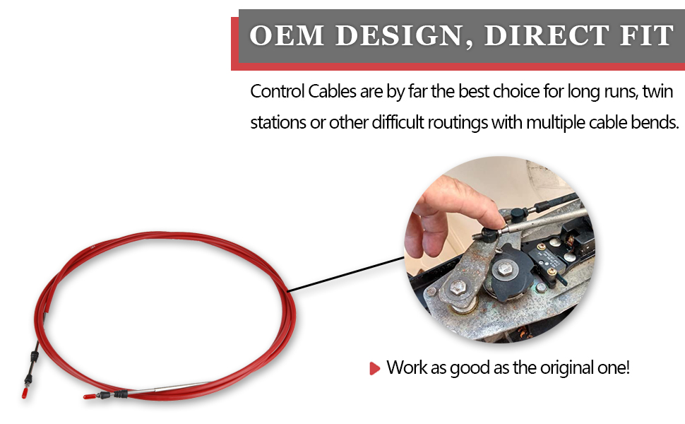 SeaStar XTREME Control Cables have a 4-inch minimum bend radius versus an 8-inch minimum bend radius