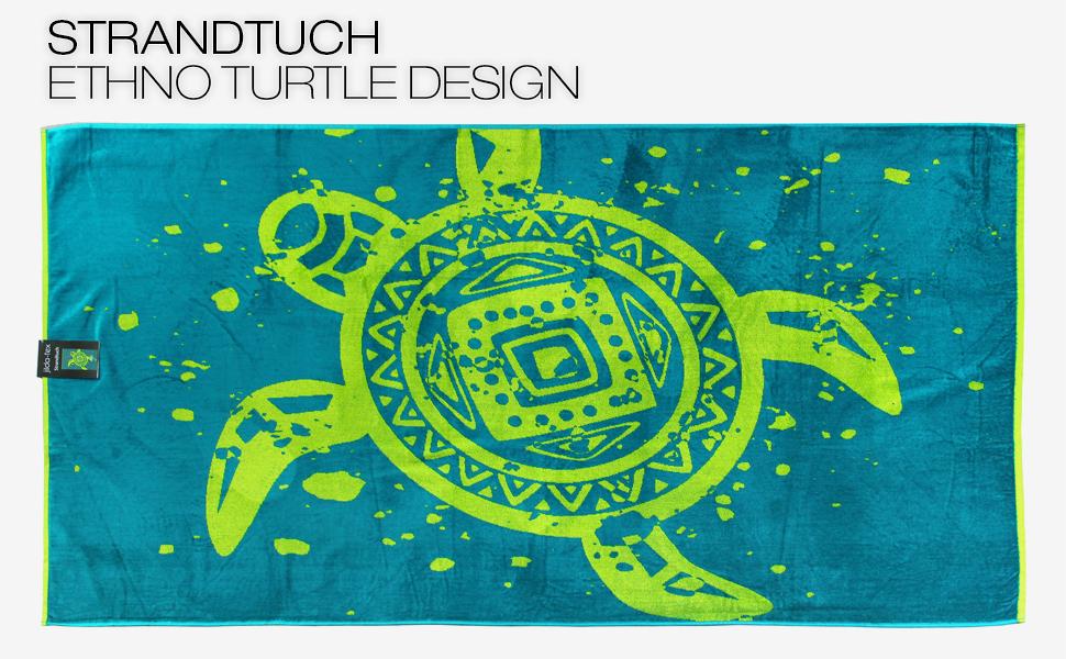 Strandtuch Ethno Turtle
