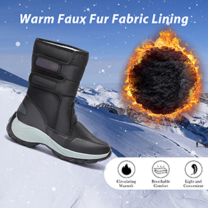 womens snow boots waterproof black