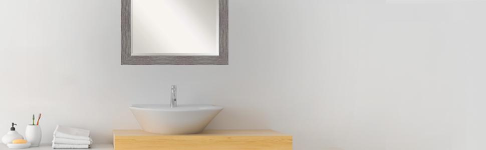 framed bathroom vanity wall mirror