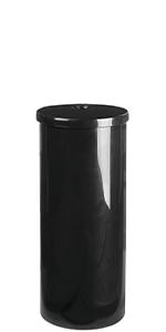 Modern Plastic Toilet Tissue Paper Roll Holder Stand Lid Vertical Tissue Reserve Mega