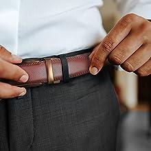 Brown ratchet belt/brown click belt/brown slide belt/ratchet belt brown/cognac/