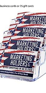 Marketing Holders Multi Pocket Card Display Rack