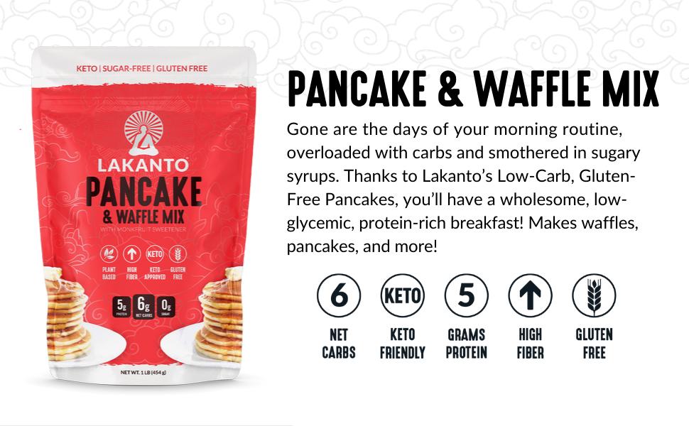 pancake mix, waffles, gluten-free, sugar-free