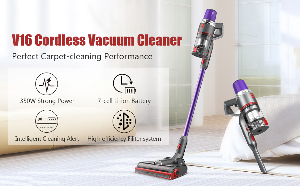 V16 cordless vacuum cleaner