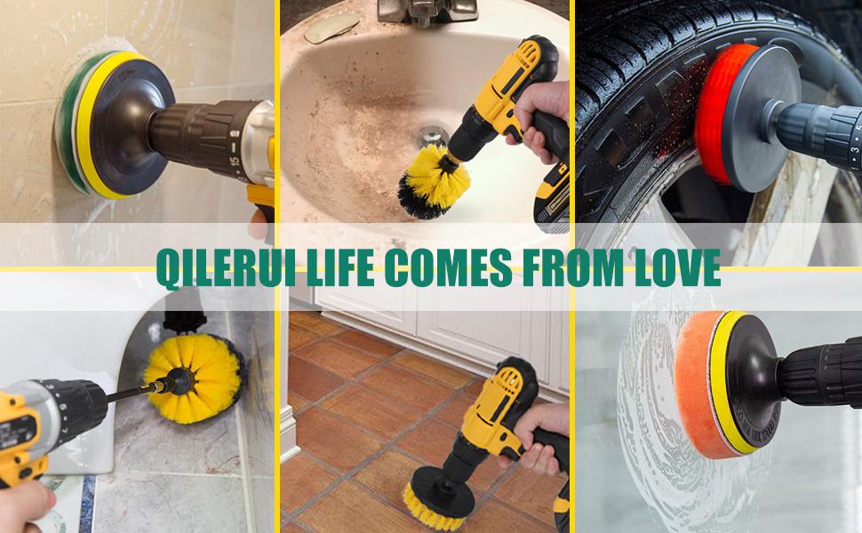 Drill Power Brush Scrubber Cleaning Brush