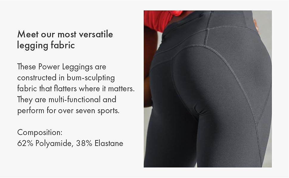 versatile legging fabric construction bum flattering multi functional sport workout exercise