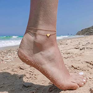 anklet with initials