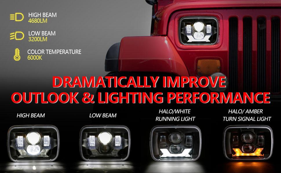 5x7 halo headlights