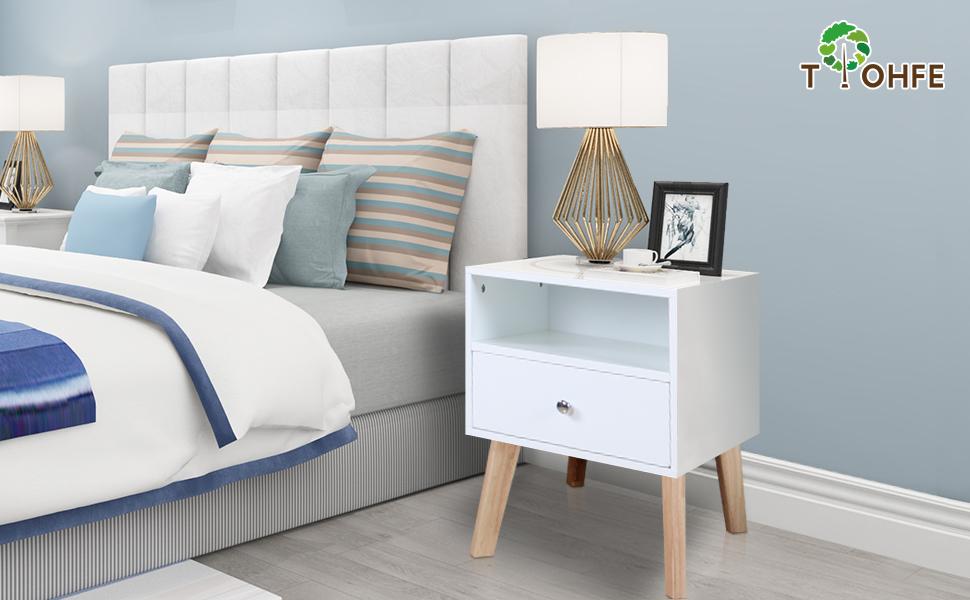 nightstands drawer white