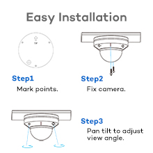 4k 8mp poe ip security camera system 6 cameras 8 channel nvr wired human outdoor dome audio onwote