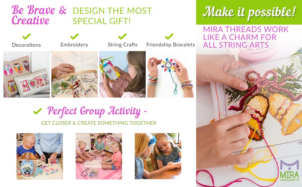 string art, crafts, floss, thread, needles, threader, sewing tools