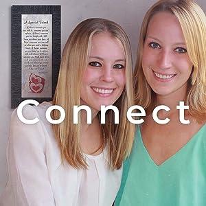 Connect. True Friend frame. Two girls best friend gift