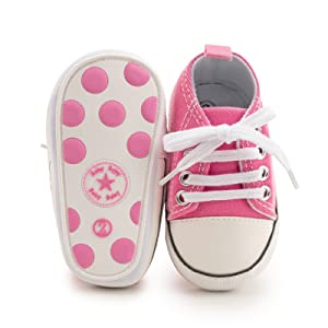pink shoes baby girls' sneakers by kidsun baby girls' shoes 0 3 6 12 18 months baby girl shoes