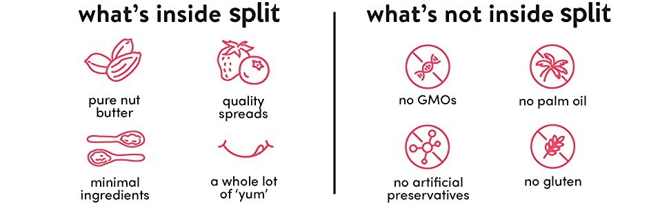 split nutrition, split, protein, antioxidants, vitamins, no preservatives, non-GMO, gluten free, nut
