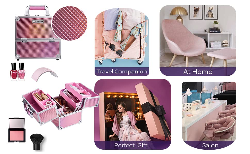 cosmetic case pink