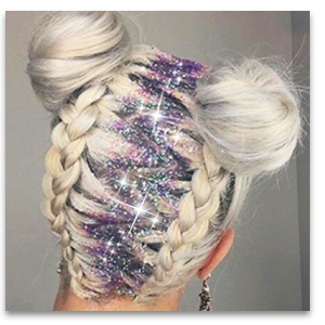 glitter for hair