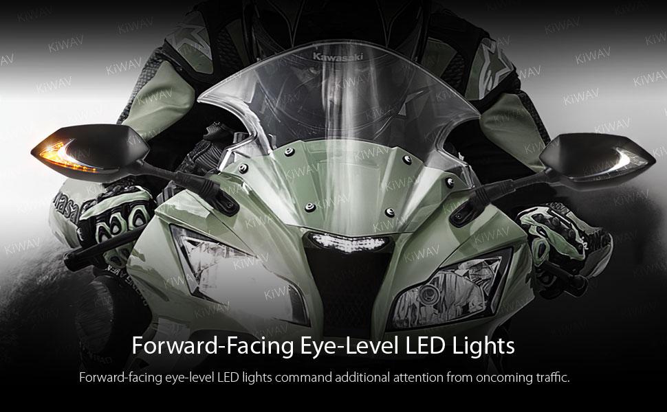 Forward-facing eye-level LED lights