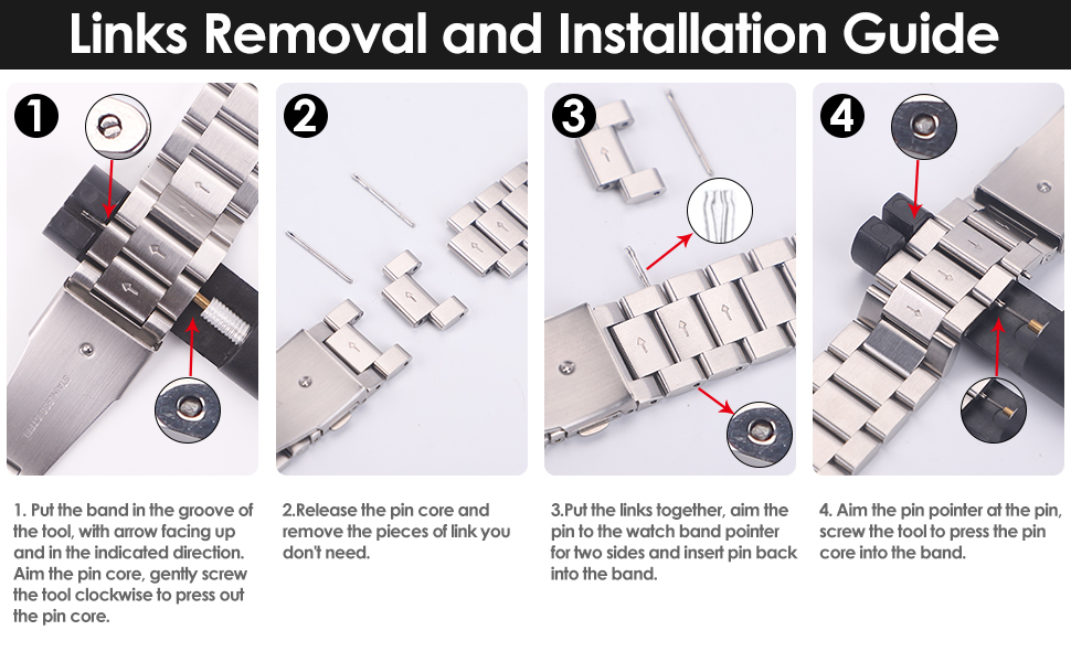 Metal Bands Links Removal and Installation Guide
