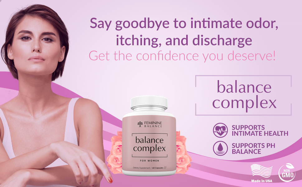 Balance Complex for Women Bacterial Vaginosis Vagina Health Supplement Natural Remedy BV Treatment