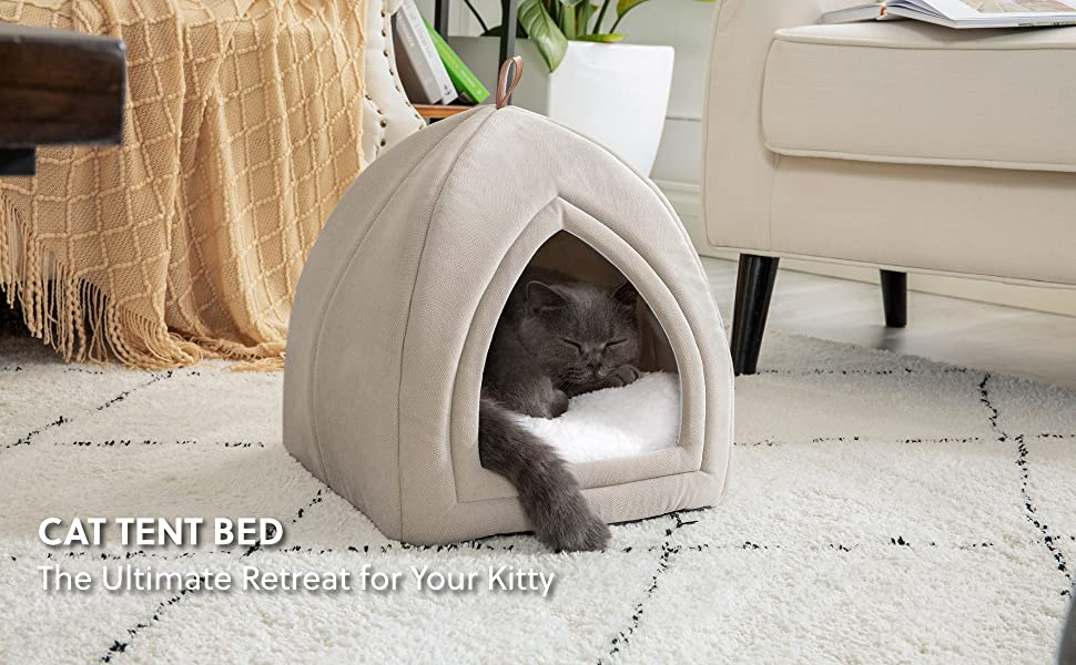 Bedsure Cat Tent Bed - The Ultimate Retreat for Your Kitty