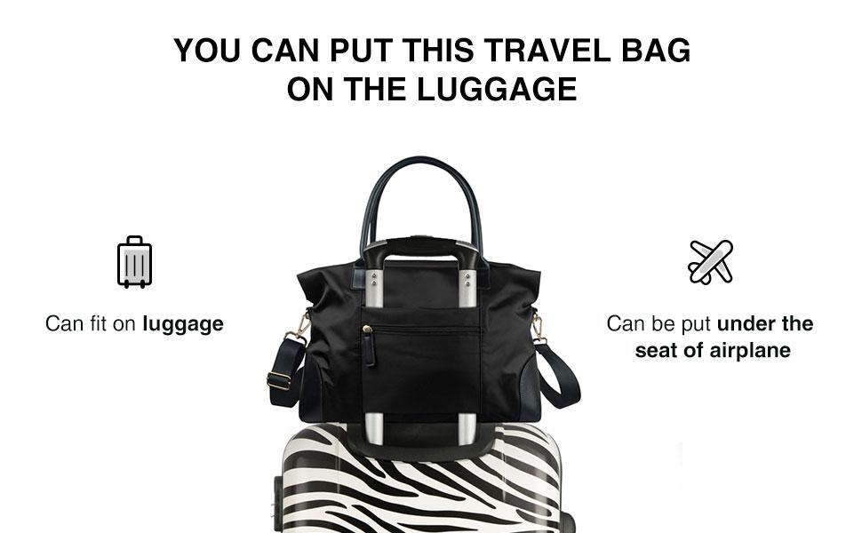 Cactus Printing Travel Carry-on Luggage Weekender Bag Overnight Tote Flight Duffel In Trolley Handle