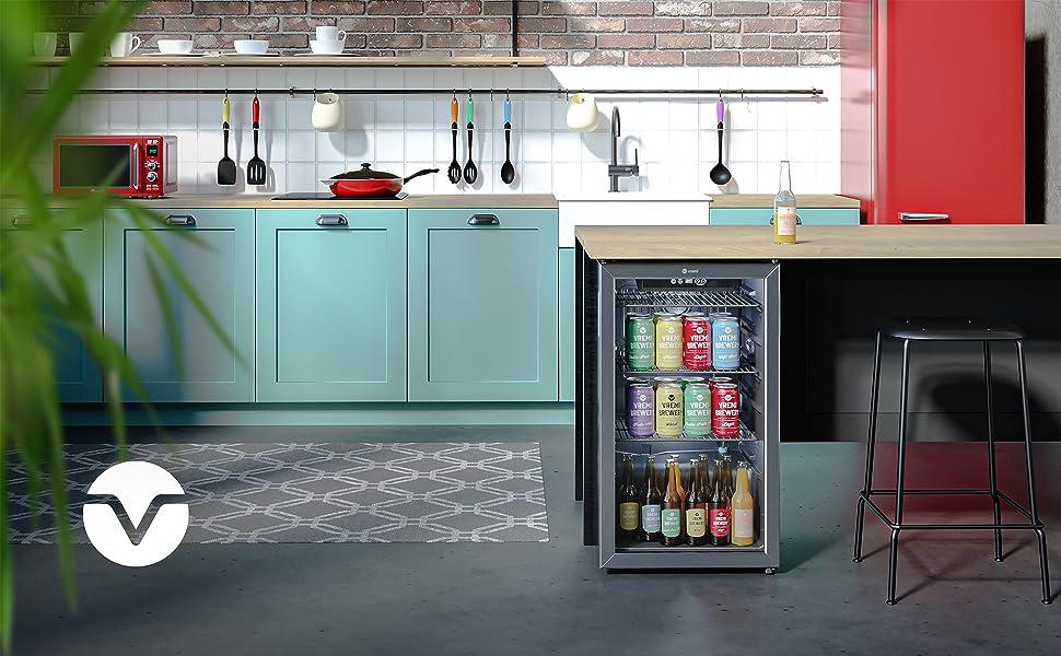beverage cooler in the kitchen