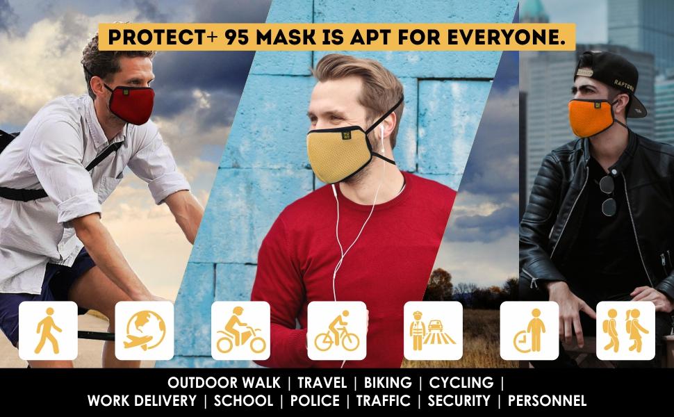 EUME Protect 95 face mask for men & women reusable& washable face mask adjustable cotton face mask
