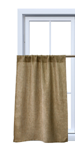 burlap curtains 36 inch