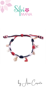 American Flag Charm Wish Girl Red White and Royal Blue Bracelet