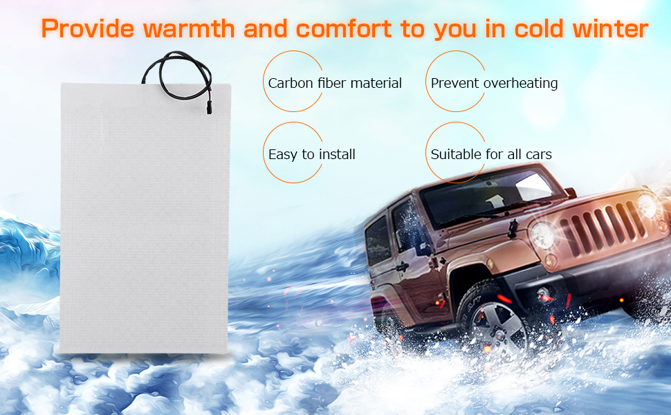 Amazon Com Carbon Fiber Car Seat Heater Kit Heated Seat Cushion Universal Seat Heater Pads Element Covers Heating Mats With Round Switch For Cars 2 Heater Pads 1switch Automotive