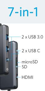 Anker USB3.0 ウルトラスリム 4ポート USBハブ 60cm ケーブル