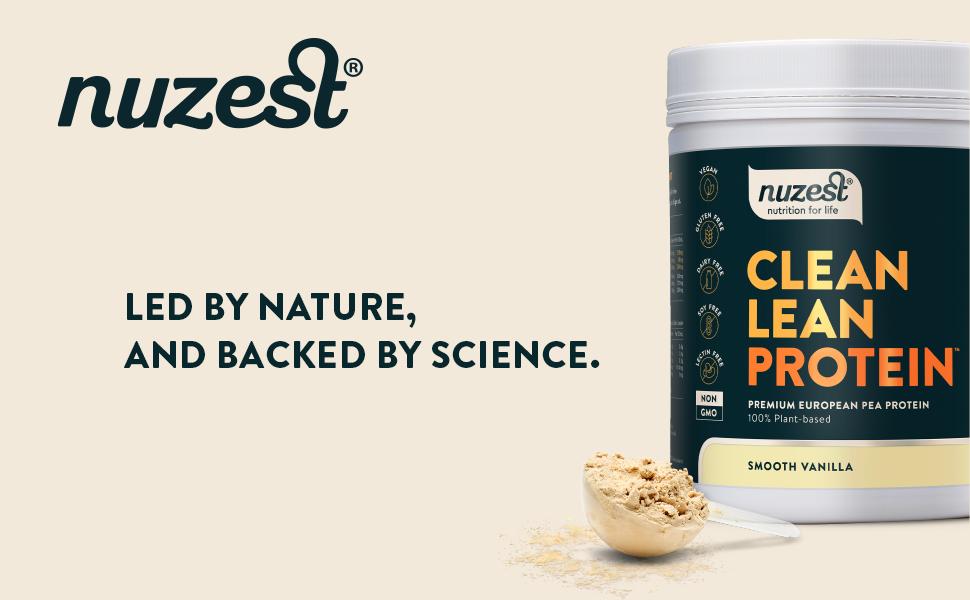 Nuzest Clean Lean Protein Premium Vegan Pea Protein Powder Plant Protein  Dairy Free Gluten Free GMO Free Naturally Sweetened 20 Servings:  Amazon.co.uk: Health & Personal Care