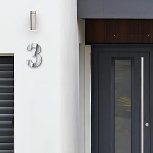 Huisnummer cijfer grote letters metaal