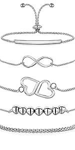 jewellery women 925 sterling silver amberta chain bracelet
