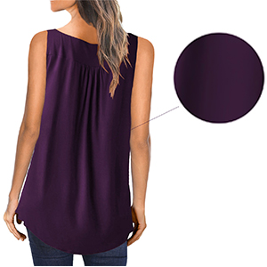 MODARANI Sleeveless Tank Top for Women Casual Loose Fitting Shirts V Neck & U Neck Tunics Floral