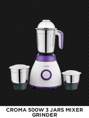 CROMA 500-Watt 3 Jars Mixer Grinder