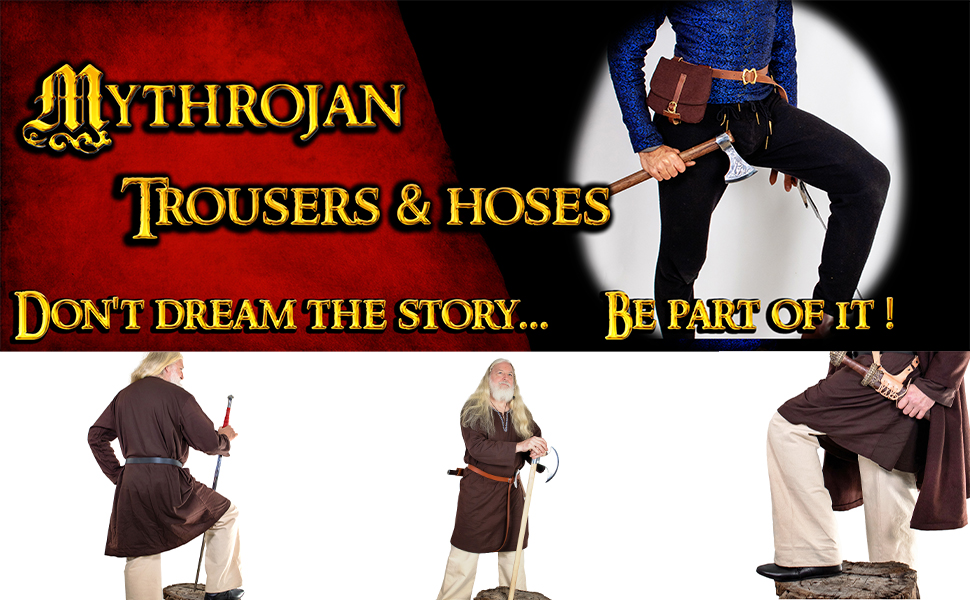 Medieval Viking warrior trousers. Ideal for costume Warrior Knight Vikings SCA LARP Renaissance
