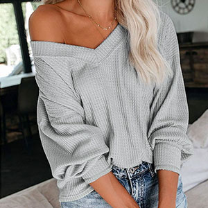 eachMe Women's Oversized Off Shoulder Pullover Tops