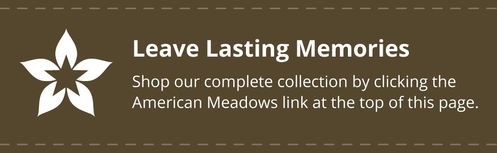 Leave lasting memories and how to shop our complete collection of wildflower seed favor packets.