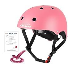 Pink kids helmet