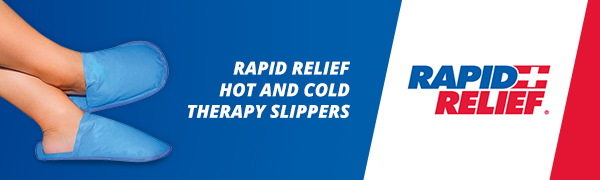 rapid relief hot cold therapy slippers