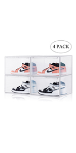 Clear shoes box