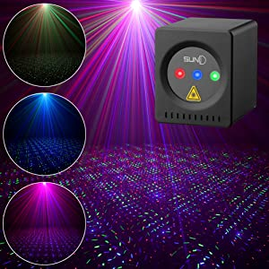 Flashandfocus.com 6ae5b228-eddc-461c-968c-6c99726dcf1f.__CR0,0,1001,1001_PT0_SX300_V1___ SUNY Mini Portable Cordless Laser Lights Rechargeable RGB Stars Patterns Gobo Projector Sound Activated Music DJ Party…