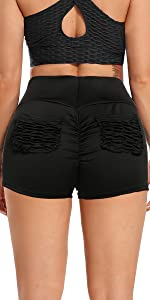 Basic Style Pockets Booty Gym Shorts