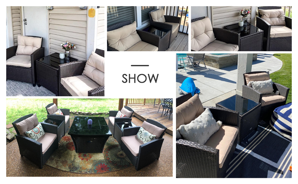 patio wicker furniture set