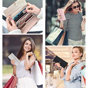 Multifunktionale Damen Clutch Tasche