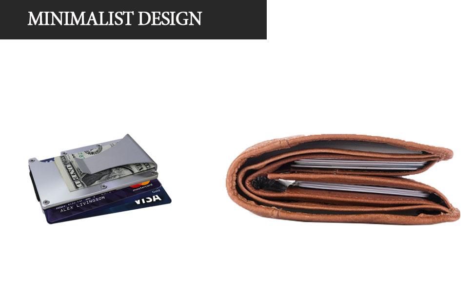 rfid small aluminium card holder expensive cheap  lightweight  minimal light stylish  thin aluminum