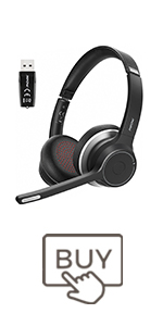 Mpow HC5 Bluetooth Headset with Adapter